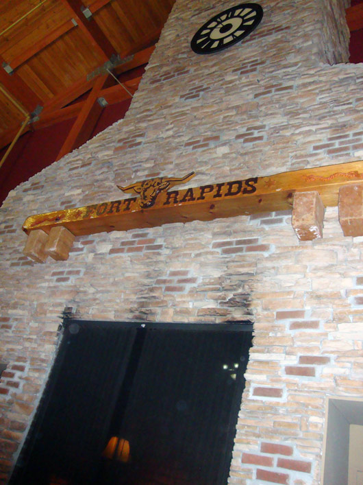 picture of Fort Rapids Indoor Waterpark Resort Lobby Fireplace