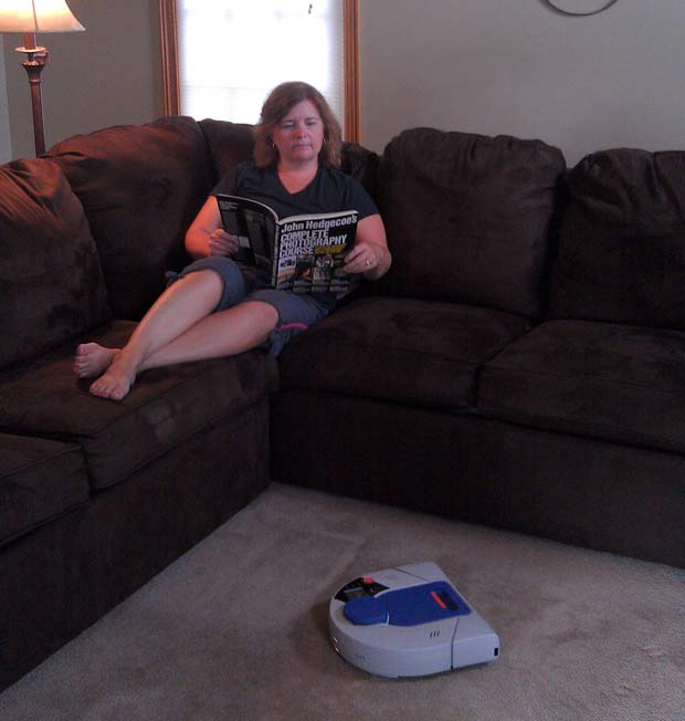 picture of Relax while Neato Robotics XV-21 Robotic Vacuum does the work!